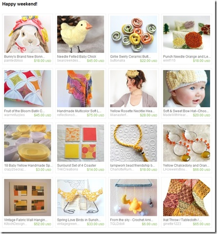 EtsyTreasury-HappyEaster-OrangeBrownWallArt