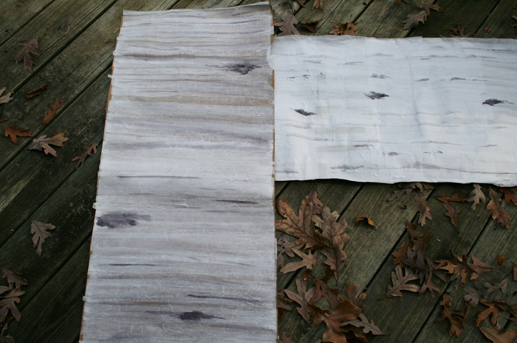 Making And Crafts Faux Birch Bark
