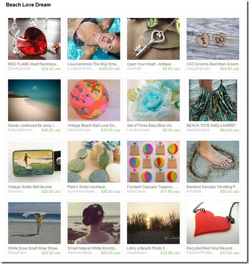 EtsyTreasury-BeachLoveDream-BeachBall